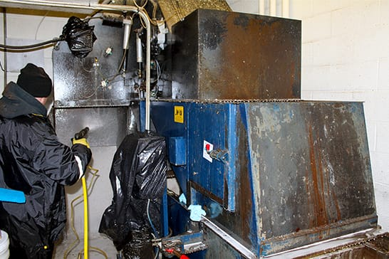 Compactor Cleaning